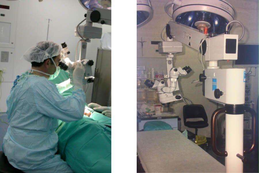 microscopio para la microcirugía de la vasovasostomía