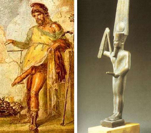El dios Min y Priapo